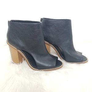 Forever 21 | Black Peep Toe Ankle Boots Booties 6